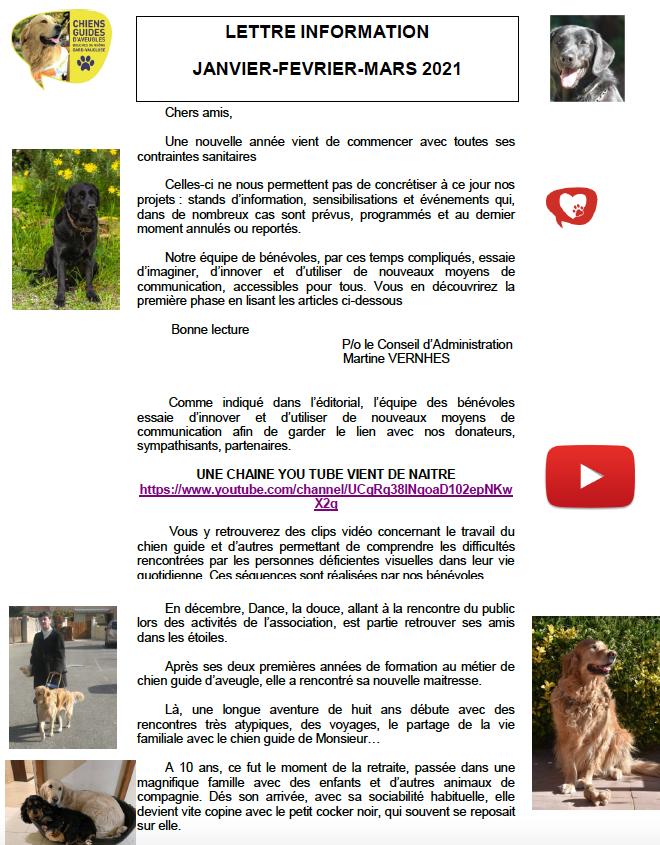 lettre information Janvier 2021